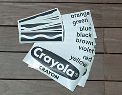 the design - Crayola Sign